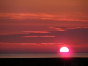 Sunset in Northern Ireland.